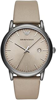 Emporio Armani Casual Watch For Men Analog Leather - Ar11116, Grey Band