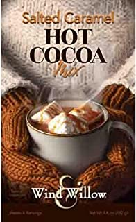 Wind & Willow - Salted Caramel Hot Cocoa - Mix 4.6 Ounces - Makes 4 Servings