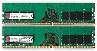 キングストン デスクトップPC用メモリ DDR4 2400 (PC4-19200) 8GB×2枚 CL17 1.2V Non-ECC DIMM 288pin KVR24N17S8K2/16 永久保証