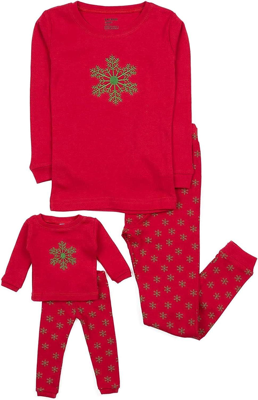 Leveret Kids Toddler Pajamas 100 Regular Boston Mall discount Matching Doll Girls