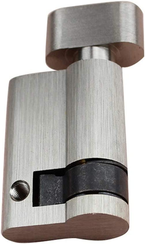 LHSJYG Bombin Cerradura,Cilindro Cerradura Estándar de 45 mm Cerradura de Puerta Medio Cilindro Pulsar Solo Abierto con Bloqueo de la Perilla para la Puerta de Madera del baño