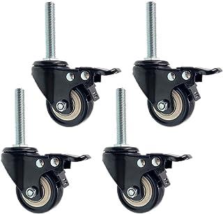 2 inch zwenkwielen met zwenkwielen Steel met schroefdraad Industriële polyurethaan zwenkwielen, vervanging voor meubels en...