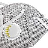 DAYU Maschere antipolvere da lavoro monouso con valvola FFP3 protezione respiratoria sicurezza del viso Respirazione Equipaggiare una protezione per gli occhi 2 pezzi