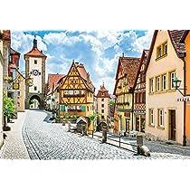 1053ピース ジグソーパズル カラフルな街並み 中世の宝石箱ローテンブルク-ドイツ スーパースモールピース(26x38cm)