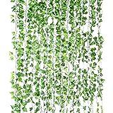 Yizhet Plantas Hiedra Artificial, 12 Piezas Artificial Hiedra Guirnalda Plantas Plantas...