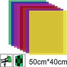 Neewer 8 Piezas Filtro Color Gel con 8 Colores-40 x 50cm Lámina de Plástico Transparente en Color, Filtro de Luz de Gel de Corrección para Flash Estroboscópico, Luz Video LED