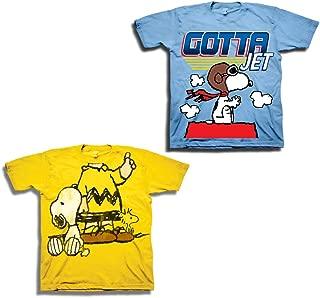 Peanuts Toddler Boys Snoopy Shirt - 2 Pack Classic Tees - Snoopy, Linus, Woodstock Charlie Brown