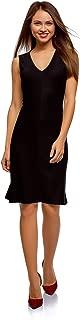 oodji Ultra Women's Jersey Dress with Trapeze Skirt