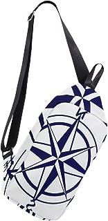 Crossbody Sling Backpack Nautical Compass Chest Shoulder Bags Multipurpose for Men/Women