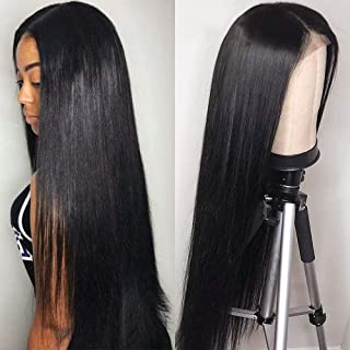 human hair lace front wigs long