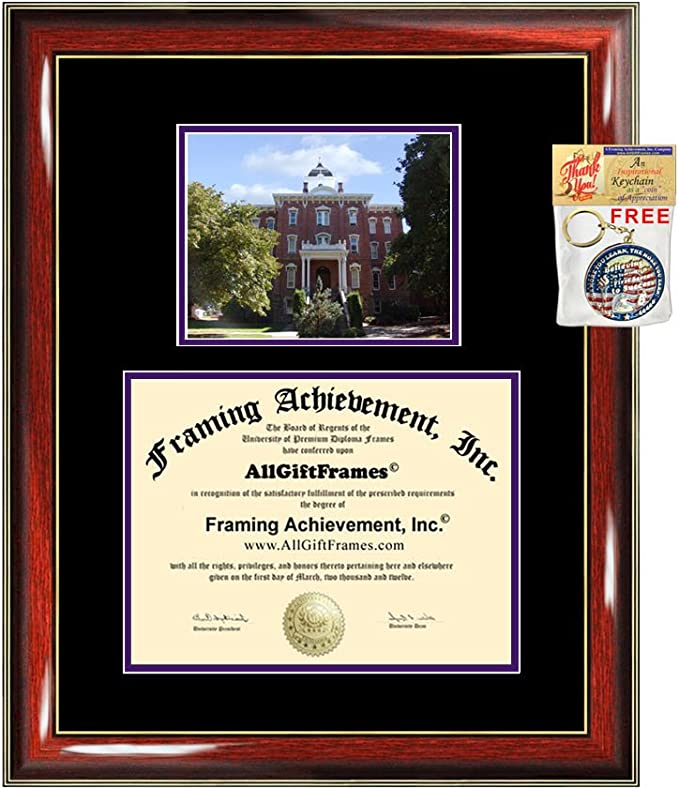 Linfield College Diploma Frame University Graduation Degree Frame College Campus Photo Gift Certificate Document Diploma Framing Amazon Com