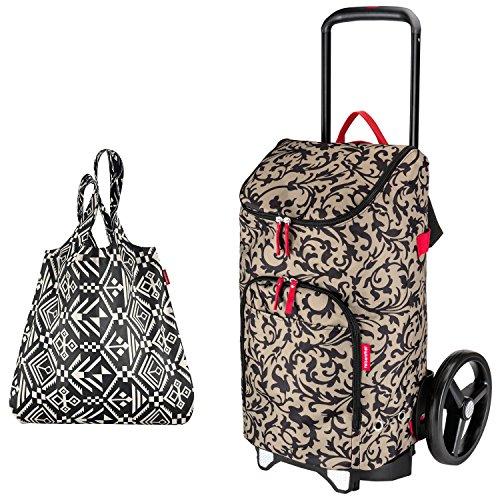 reisenthel citycruiser Rack + citycruiser Bag 45 l Einkaufstrolley - Baroque Taupe + Mini Maxi Shopper hopi