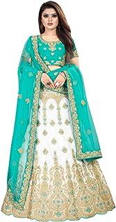 Bangalori シルク インディアン 結婚式 ガグラ チャニヤ チョリ レヘンガ ブラウス レディース パーティーウェア セミスティッチ 8588