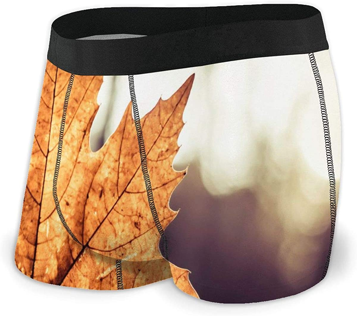 Mens Boxer Briefs Vector Large Maple Leaf Breathable Underwear