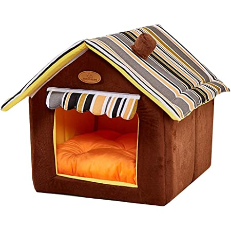Amazon Com Dog House Soft Indoor Small Medium Large Dog Houses Pets Sponge Material Portable And Great For Transportation And Short Outings Pet Supplies