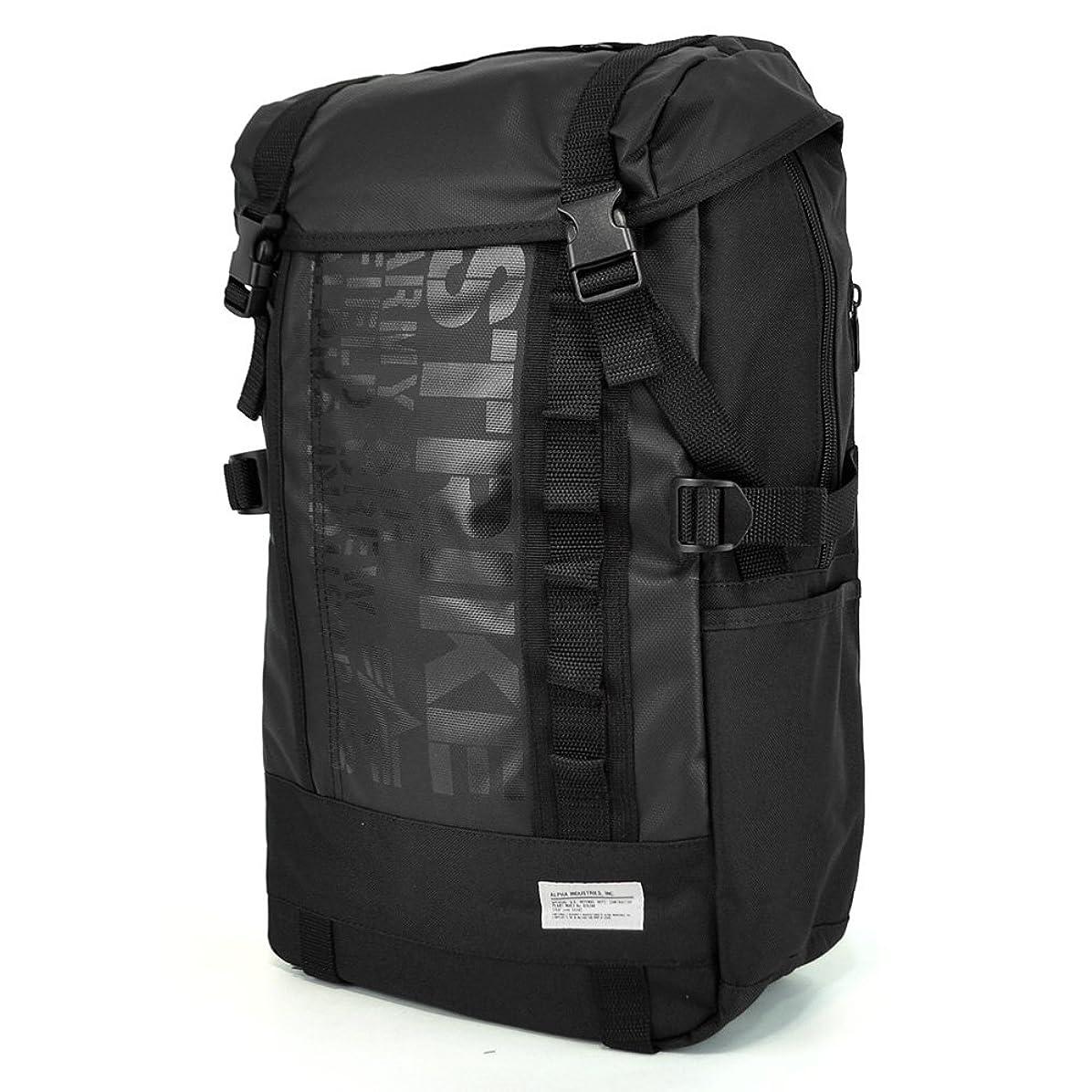 精通したファッションバケットALPHA(アルファ) リュックサック バックパック デイパック 04944 ロゴプリント デイバッグ