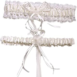 255e397b604 vimans Women s Wedding Accessories Garters Bridal Lace Garter Set for Bride