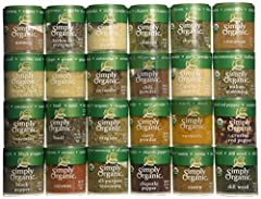 Top 24 Organic Spices USDA Certified Organic Excellent starter set for newlyweds, students, and new homeowners Great set for anyone, anytime, anywhere Container Material- Plastic