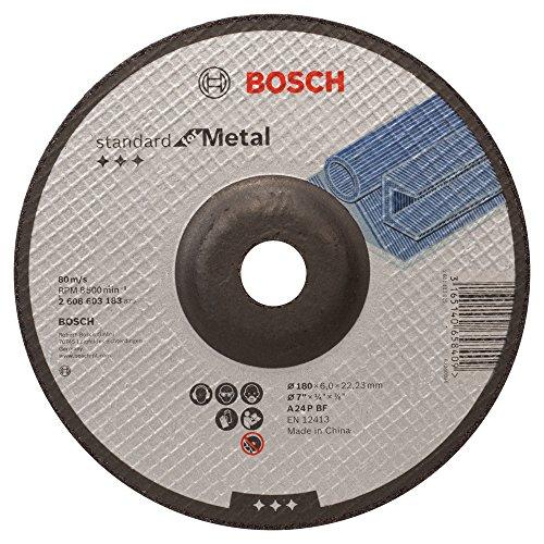 Bosch Professional 2608603183 Schruppscheibe für Metall gekröpft 180x6mm, 180 mm