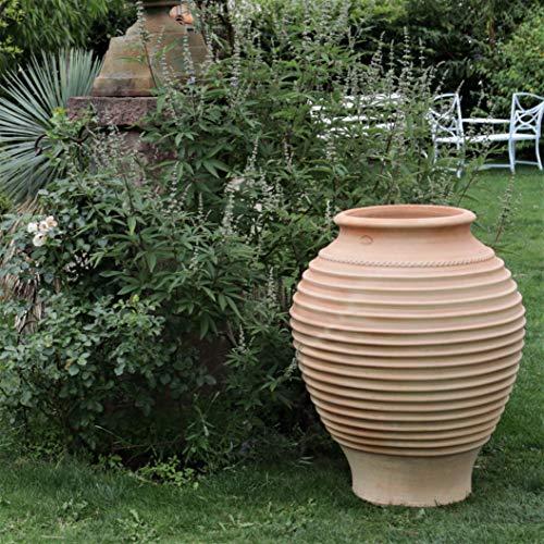 Céramique crète | grande amphore végétale faite main en terre cuite | 100 cm | jardinière de haute qualité pour jardin, terrasse et balcon, agave