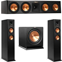 Klipsch 3.1 System with 2 RP-250F Tower Speakers, 1 RP-450C Center Speaker, 1 Klipsch R-112SW Subwoofer + AudioQuest Bundle