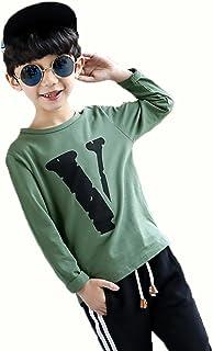 SHUNYI 長袖 Tシャツ ボーイズ 卒業式 カジュアル クルーネック トレーナーシャツ ロングスリーブ お出かけ ブラウス 子供服 プルオーバー