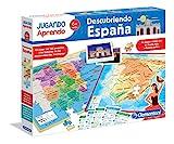 Este fantástico juego 2 en 1 es un puzzle de dos caras con el mapa físico y político de España ¡Con 150 preguntas! Incluye imágenes de los monumentos más importantes