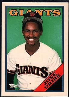 Baseball MLB 1988 Topps Tiffany #302 Jose Uribe Giants