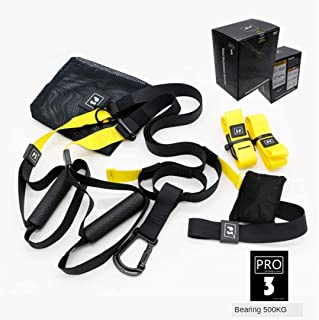 P3-3 Pro Suspension Trainer Kit Trx Sling Set ALL-IN-ONE OKJ Perfect for Travel and Working Out Indoors Durability and ext...