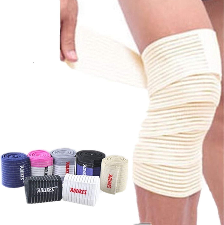 Runworld 1 Challenge the lowest price of Japan ☆ Pair Elastic Outlet SALE Breathable Brace Banda Compression Knee