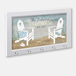 Personalized Lake House Or Beach House Key Holder, Key Hanger, Wall Key Rack, Wall Key Holder, Key Holders, Personalized Gift, Home, Housewarming Gift