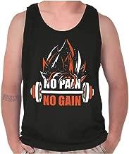 No Pain No Gain Nerdy Anime Gym Motivation Tank Top