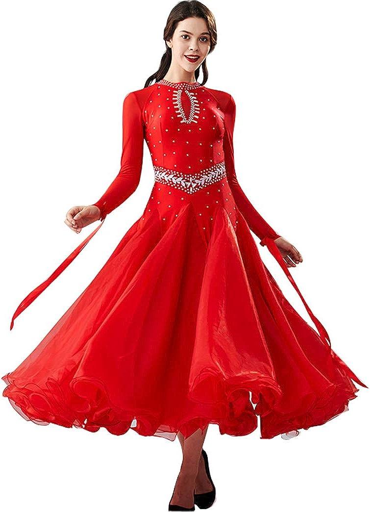 YUMEIREN Cheap super special price Long Sleeve Ballroom Flamenco Mail order Dance Dress Modern