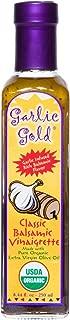 Organic Balsamic Vinaigrette Salad Dressing, Dip & Marinade USDA Organic Certified Garlic Gold, Soy Free 8.44 fl oz
