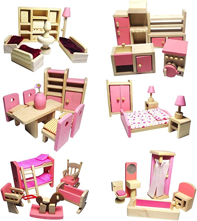 Puppenhaus Holzhocker Möbel für 1//3 SD DOD BJD Puppen Zubehör