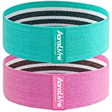 Aora Livre Fabric Resistance Bands for Legs Butt Glute Squats Workout Exercise Bands for Women...