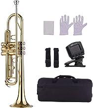 Muslady Trompeta de Latón Bb Estándar Instrumento de
