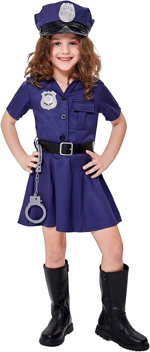 Girl's Police Officer Costume Halloween Up O Dress Kids Selling Cop Directly managed store