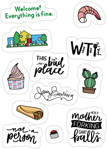 Stickers The Good Place TV Show Art Wall Decals (3 Pcs/Pack) 3x4 Inch