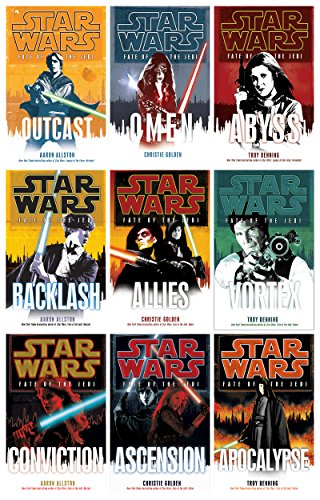 Star Wars Fate of the Jedi Complete Hardcover set of 9 Books: Outcast Omen Abyss Backlash Allies Vortex Conviction Ascension Apocalypse