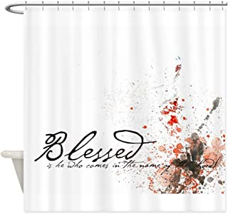 CafePress Blessed is He Decorative Fabric Shower Curtain (69