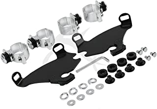 XFMT Gauntlet Fairing Black Trigger Lock Mount Kit Compatible with Harley Sportster 88-later XL (execpt XL883C, XL883N, XL1200C, XL1200CX, XL1200N, XL1200T and XL1200X and '11-later XL883L)