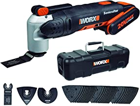 WORX WX678 accu multifunctioneel gereedschap 20 V – multifunctioneel apparaat voor snijden, polijsten, zagen enz. – incl. ...