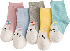 Cute Todddler Baby Socks Girls Boys Cartoon Animals Autumn and Winter Cotton Socks for Babies Kids 5 Pairs