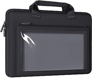 MOSISO Waterproof Laptop Briefcase Handbag Compatible with 13-13.3 inch MacBook Pro, MacBook Air, Notebook with Front Clea...