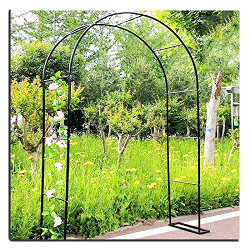 1.2X2.2M Garden Arch Flower Arbor, Rose Arch for Wedding, Hotels, Terraces, Climbing Plant, Outdoor Decoration Arbour Archway Trellis (Black)