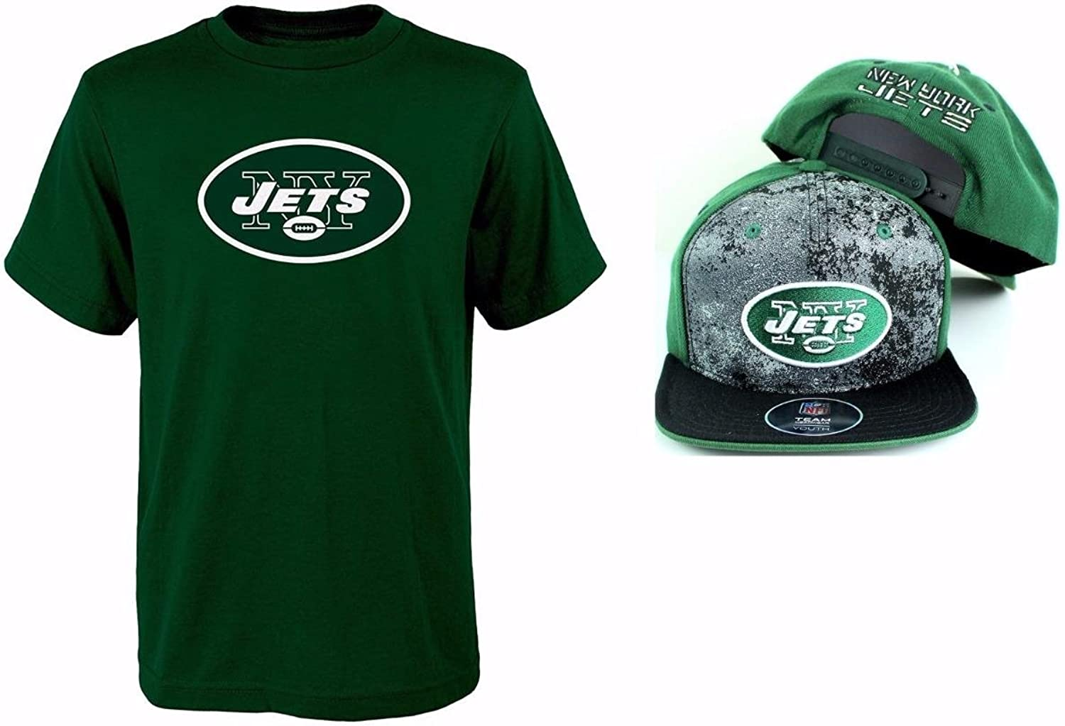 New York Jets NFL Youth Size Performance T-shirt With Cap Set
