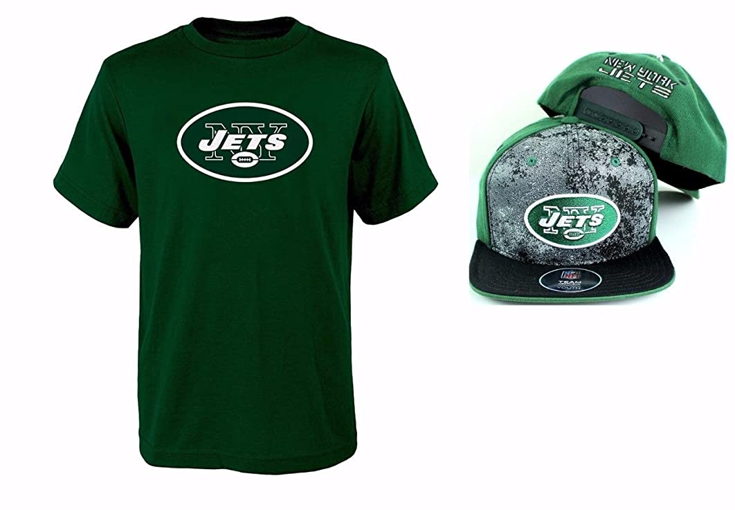 Outerstuff New York Jets NFL Youth Size Performance T-shirt With Cap Set