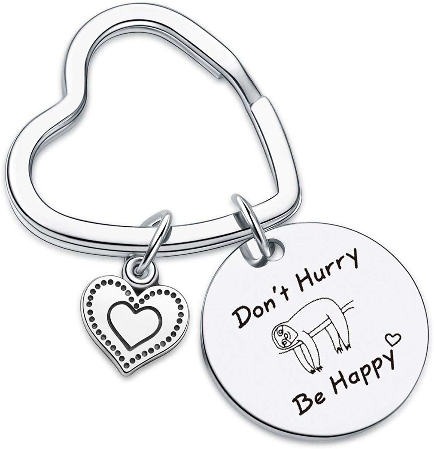 Don't Hurry Be Happy Jewelry Sloth Keyring Daughter Gift Mothers Day Jewelry Sloth Lover Keychain