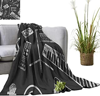 YOYI Home Fashion Blanket musi Production Speaker Laptop Headphones Microphone amplaifier plaate Lightweight Blankets for Couch Bed Sofa 60